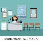 doctor office professional... | Shutterstock .eps vector #578715277