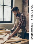 serious  joiner work at his... | Shutterstock . vector #578731723