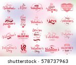 happy valentines day typography ... | Shutterstock .eps vector #578737963