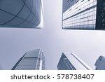 buildings in hongkong under... | Shutterstock . vector #578738407