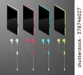 isometric vector set  colorful...