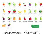 fruits icons vector | Shutterstock .eps vector #578749813