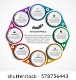 abstract options infographics... | Shutterstock .eps vector #578756443