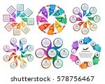collection infographics. design ... | Shutterstock .eps vector #578756467