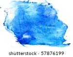blue watercolor brush strokes | Shutterstock . vector #57876199