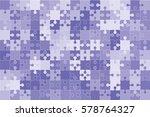 112 Blue Puzzles Pieces...