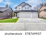 grey house exterior with two... | Shutterstock . vector #578769937