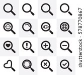 search icons set with various... | Shutterstock .eps vector #578770867