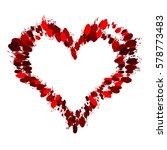 frame painted valentine heart... | Shutterstock .eps vector #578773483