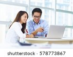young asian business people in... | Shutterstock . vector #578773867