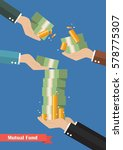 fund manager holding cash money....   Shutterstock .eps vector #578775307