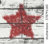 Distressed Star Crayon Overlay...