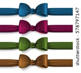 collection dark colors silk... | Shutterstock .eps vector #578797147