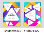 abstract vector layout... | Shutterstock .eps vector #578801527
