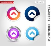 up arrow icon. button with up...   Shutterstock .eps vector #578809633