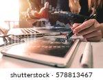 business team meeting present... | Shutterstock . vector #578813467