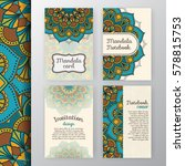 set of vintage invitation and... | Shutterstock .eps vector #578815753