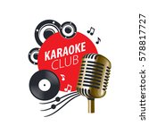 vector logo karaoke   Shutterstock .eps vector #578817727