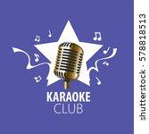 vector logo karaoke | Shutterstock .eps vector #578818513