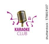 vector logo karaoke | Shutterstock .eps vector #578819107