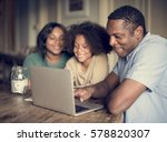 african descent family house...   Shutterstock . vector #578820307