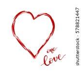 heart shaped frame and... | Shutterstock .eps vector #578821447