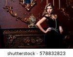 beautiful elegant woman in... | Shutterstock . vector #578832823