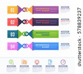 colorful infographics shapes... | Shutterstock .eps vector #578839237