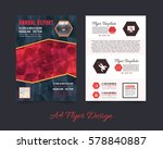 flyer polygonal brochure  a4... | Shutterstock .eps vector #578840887