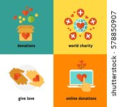 charity and donation  social... | Shutterstock .eps vector #578850907