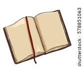vector single cartoon brown... | Shutterstock .eps vector #578851063