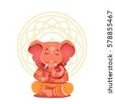 ganesha illustration in the... | Shutterstock .eps vector #578855467
