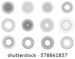 set of dotted abstract forms.... | Shutterstock .eps vector #578861857