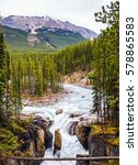 autumn trip to canada. jasper... | Shutterstock . vector #578865583