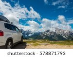 travel on the car.famous... | Shutterstock . vector #578871793