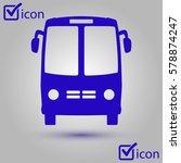 bus icon. schoolbus symbol....   Shutterstock .eps vector #578874247