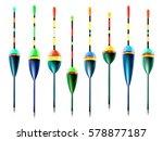 fishing bobbers set. floats for ...   Shutterstock .eps vector #578877187