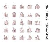 city skyline  urban landscape... | Shutterstock .eps vector #578882287