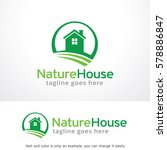 nature house logo template... | Shutterstock .eps vector #578886847