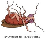 cartoon dead cockroach | Shutterstock .eps vector #578894863