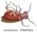 cartoon dead cockroach | Shutterstock .eps vector #578894863