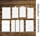 collection of various white... | Shutterstock .eps vector #578895883