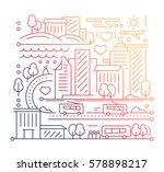 city life   vector modern... | Shutterstock .eps vector #578898217