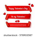 valentines day paper curl... | Shutterstock .eps vector #578903587