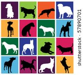 Stock vector dog set 57890701