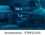 Internet Crime Concept. Hacker...