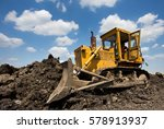 Old Yellow Bulldozer With...