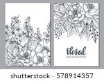 floral backgrounds with hand... | Shutterstock .eps vector #578914357