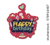 poster for the birthday...   Shutterstock .eps vector #578916487