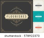 royal logo design template... | Shutterstock .eps vector #578922373